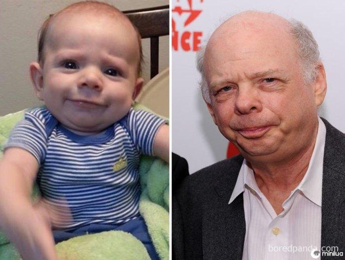 O bebê de um amigo parece Wallace Shawn