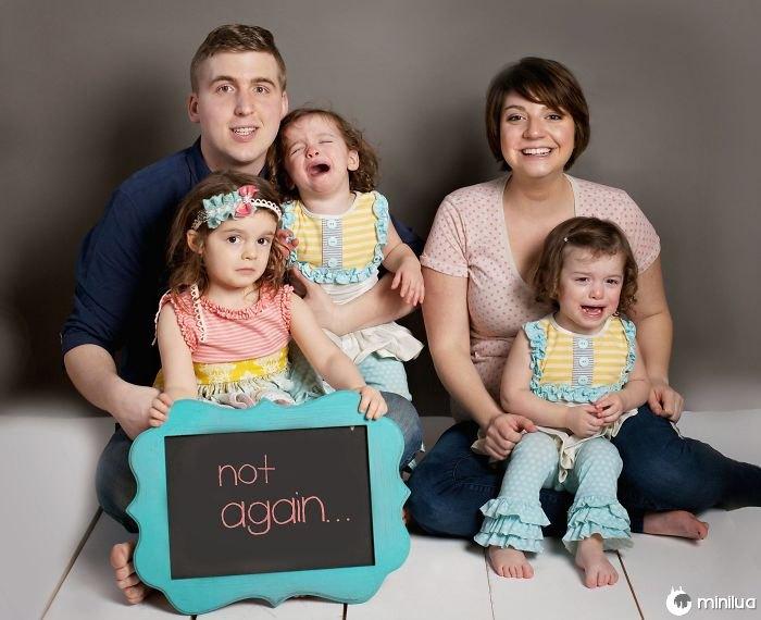 Bastante feliz com como nossa foto do anúncio da gravida girou para fora