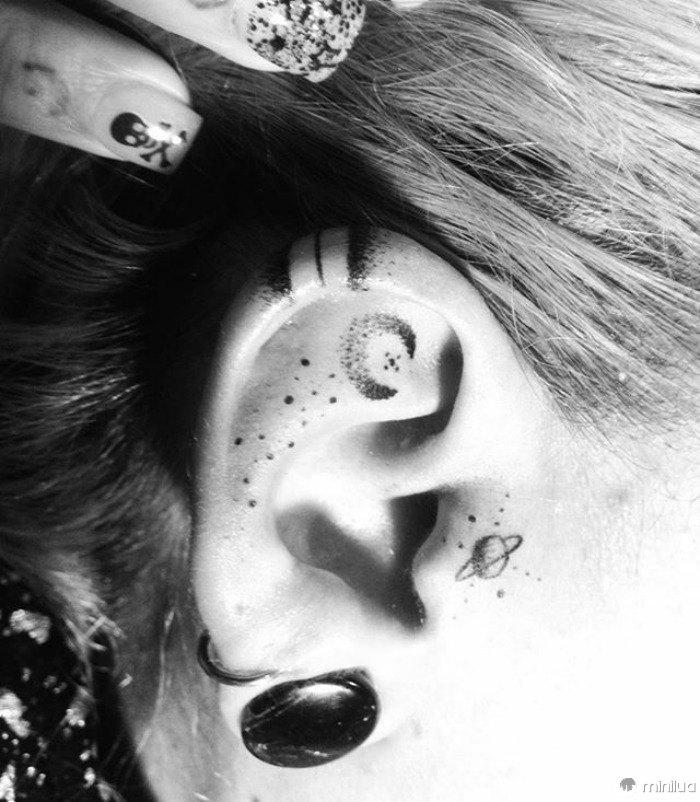 Tatuagens da orelha da hélice