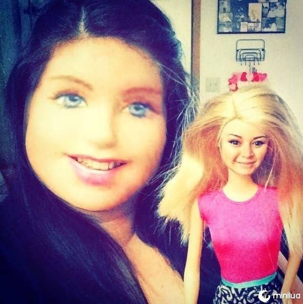 rosto barbie