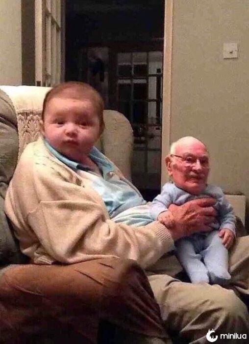 bebê forte ou velho