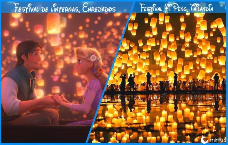 festival de lanternas verdade e Disney