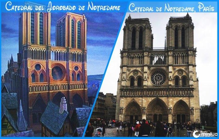 notredame verdadeira catedral e Disney