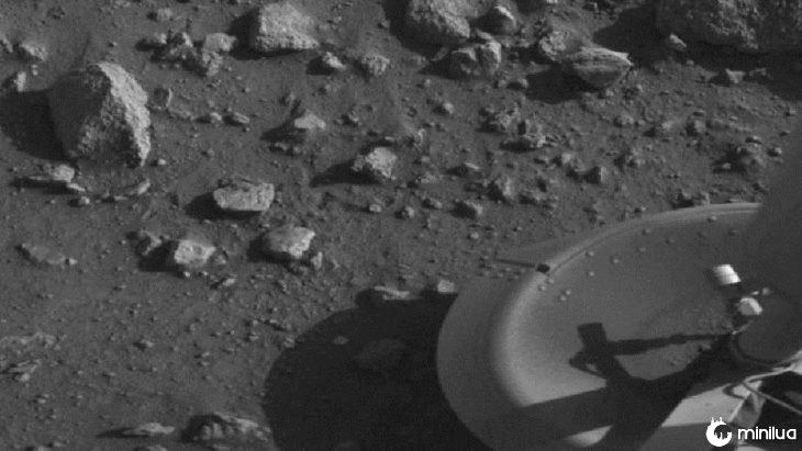 primeira foto em Marte