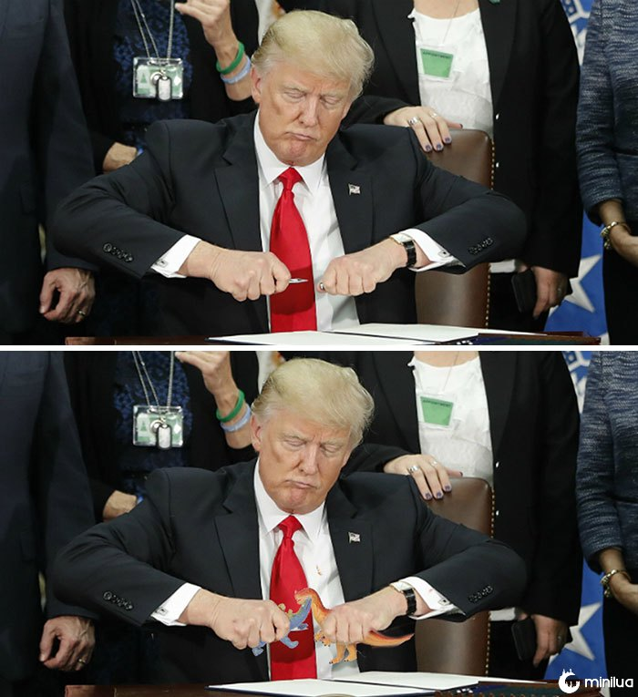 Trump Trying To Close His Pen