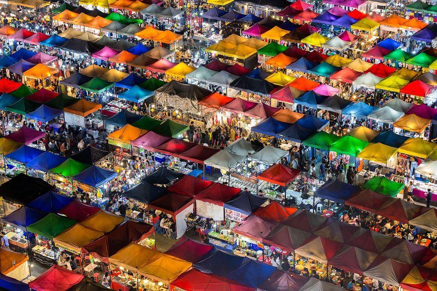 Vencedor da Escolha das Pessoas, Cidades: Mercado Colorido, Banguecoque, Tailândia