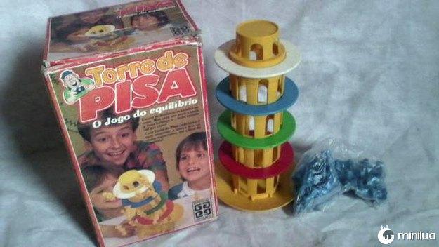 A Torre de Pisa, que basicamente exigia uma coordenação motora que você dificilmente tinha.