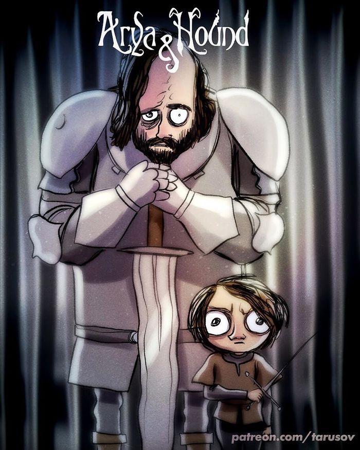Arya Stark e The Hound