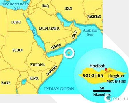 Localizacao no Mapa, Socotra