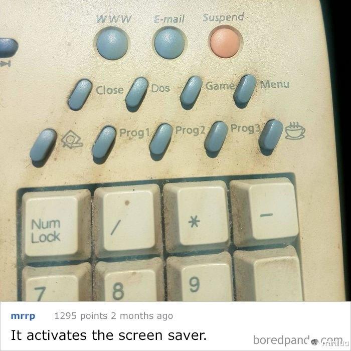 Um antigo teclado Samsung Pc ... Qual é a chave da Copa de café para?