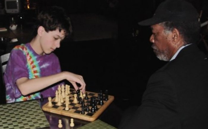 Quando eu tinha 11 eu jogava xadrez com Morgan Freeman