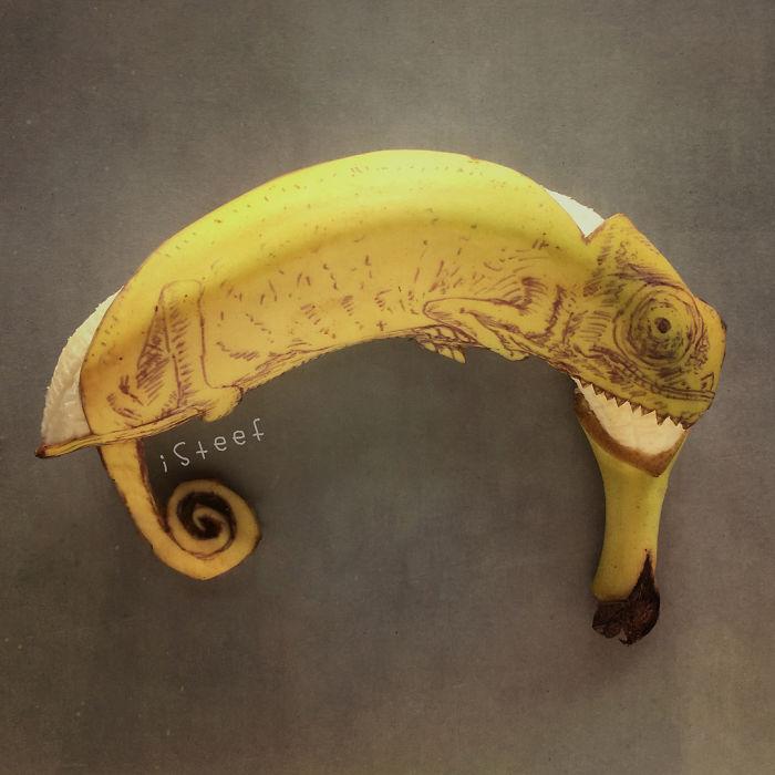 Artista Transforma Bananas Em Verdadeiras Obras De Arte E O Resultado é Incrível
