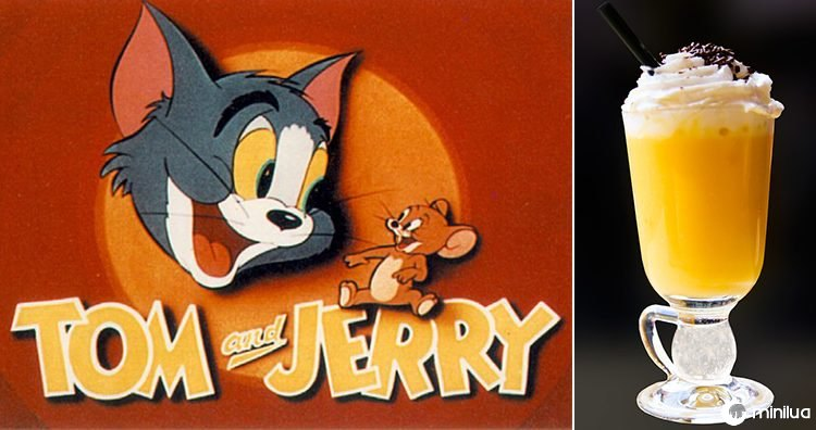 Cartaz de Tom e de Jerry, bebida misturada do tempo