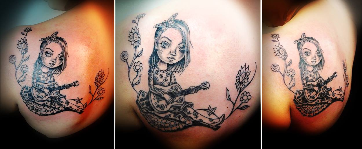 Cute girl Tattoo