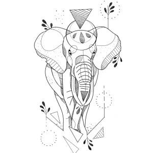 Elefante Geometrico