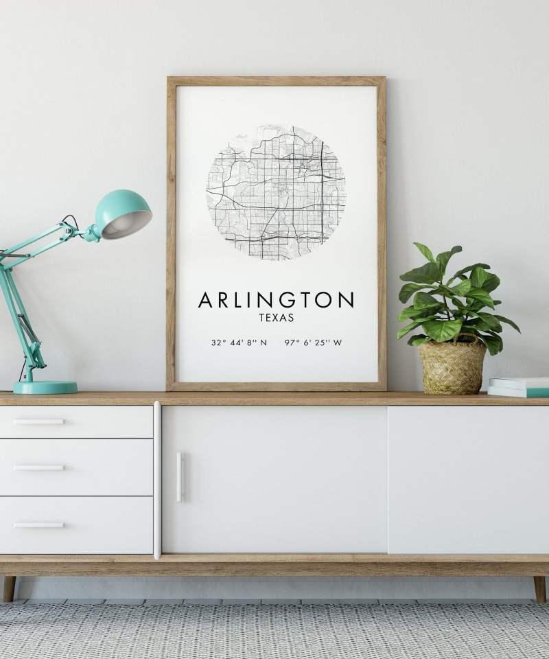 Arlington Map, Arlington City Map, Art Print, Arlington Map, Arlington Print, Arlington Poster, Map of Arlington , Arlington Texas GPS