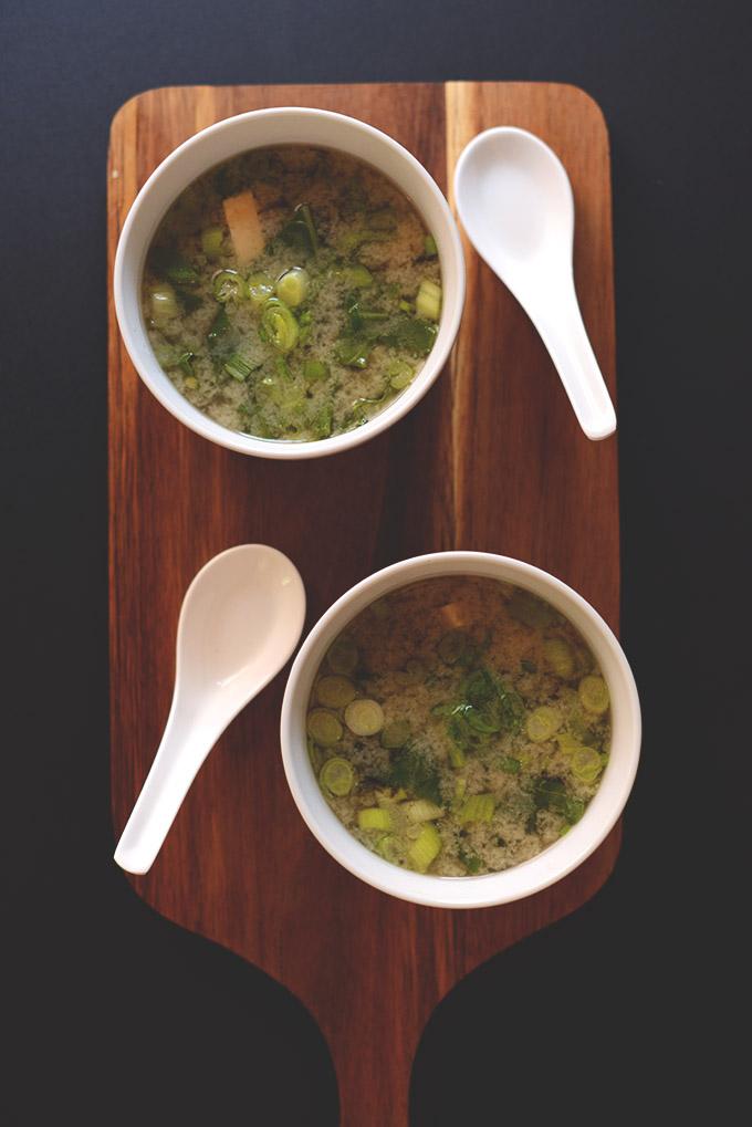 Green Chard and Tofu Miso Soup #minimalistbaker