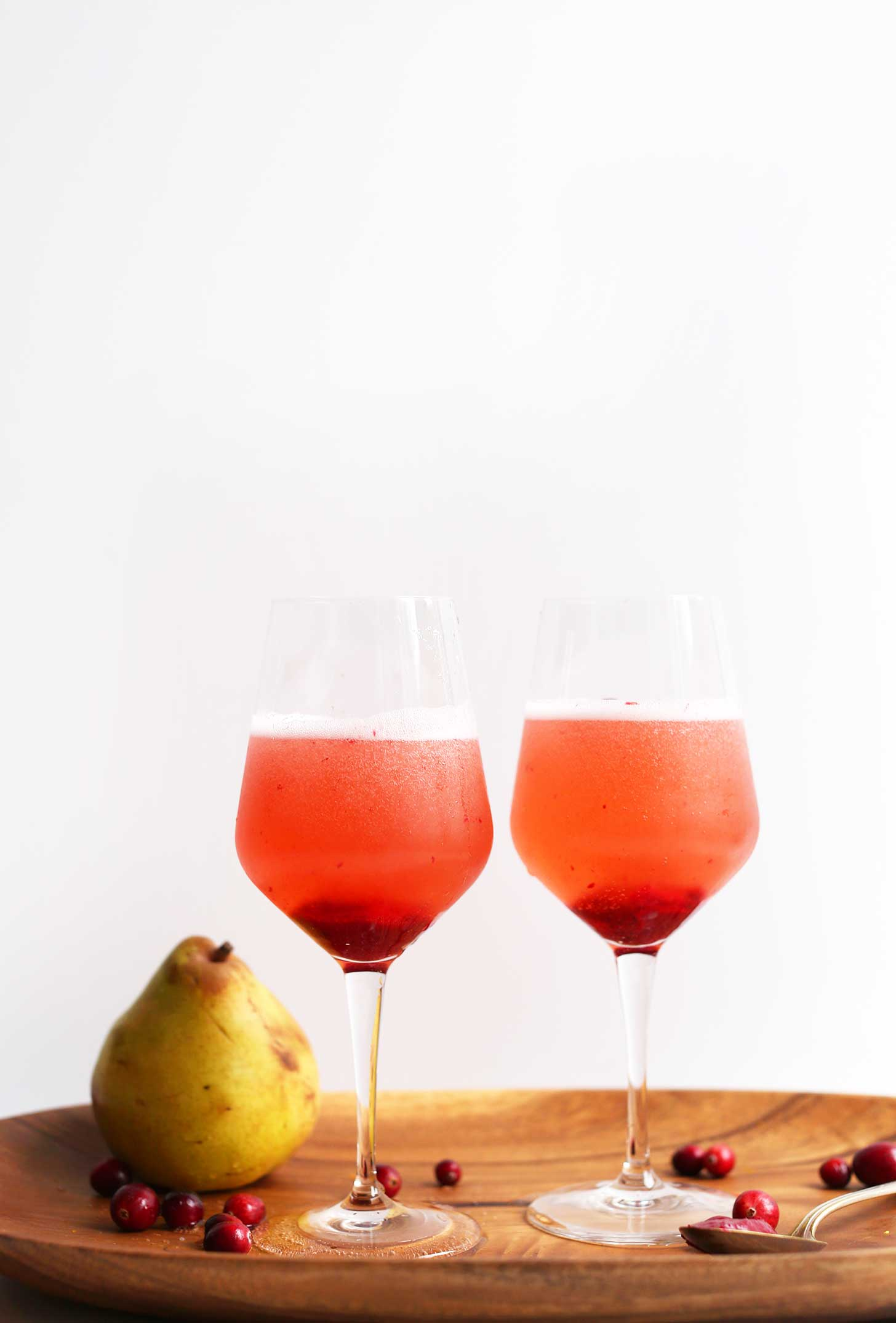 Pear And Cranberry Champagne Cocktail