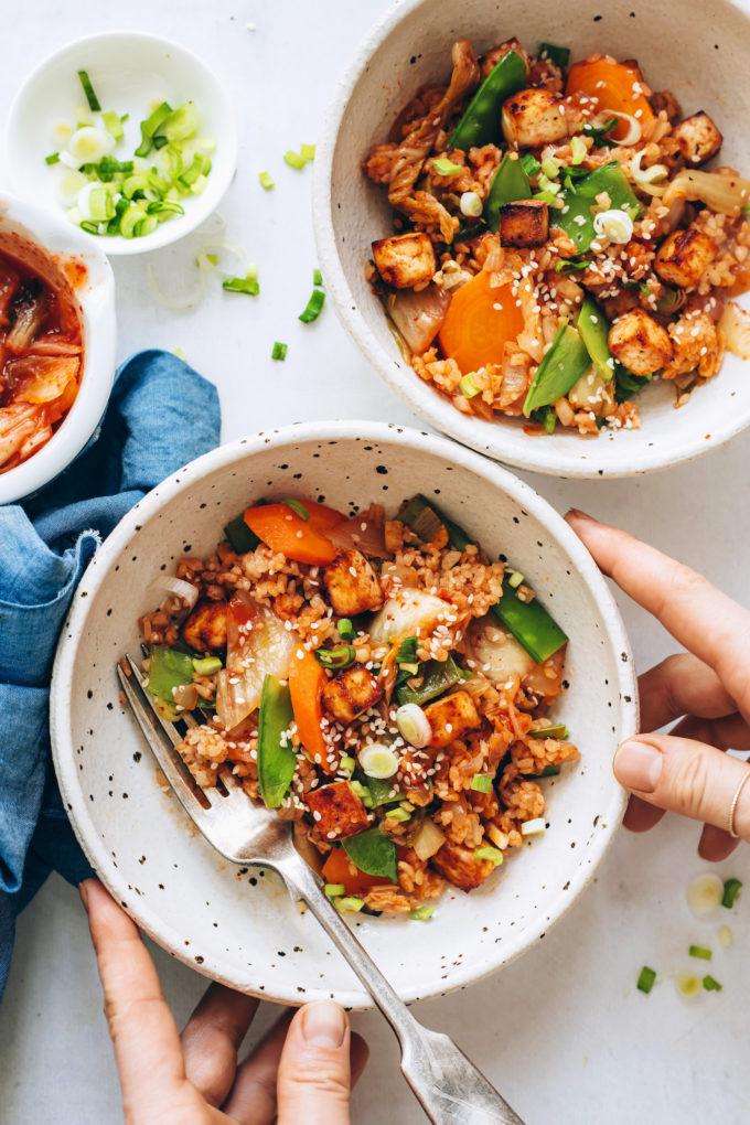 Kimchi Fried Rice (Plant-Based!)