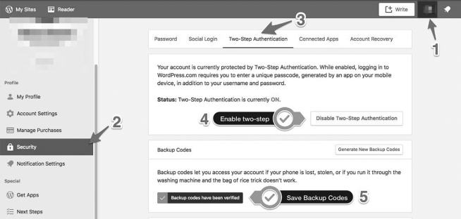 how to start a successful blog wordpress backend enable two-factor authentication on wordpress