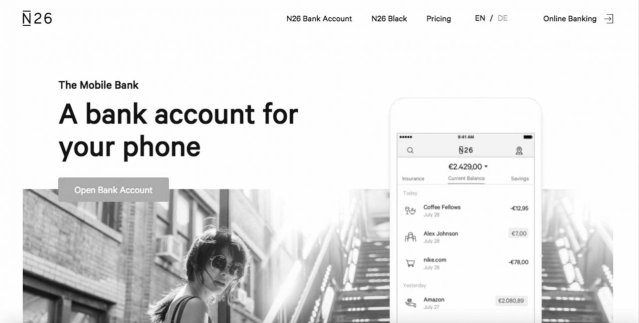 n26 mobile bank join