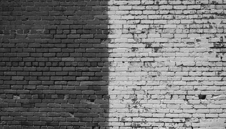 due faccie del muro