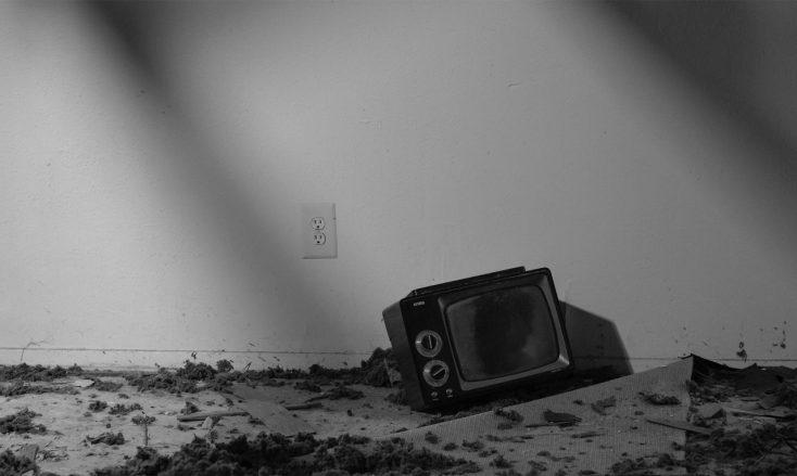 televisione abbandonata