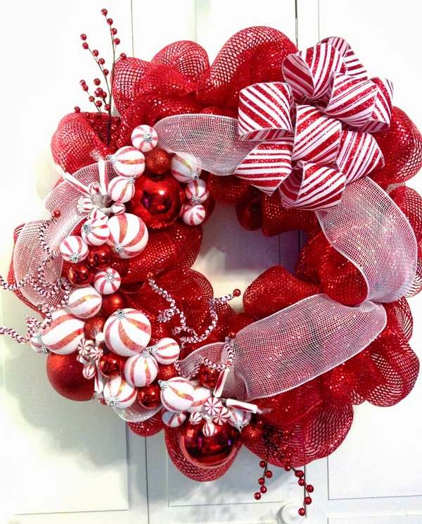 How Decorate Christmas Tree Mesh Ribbon
