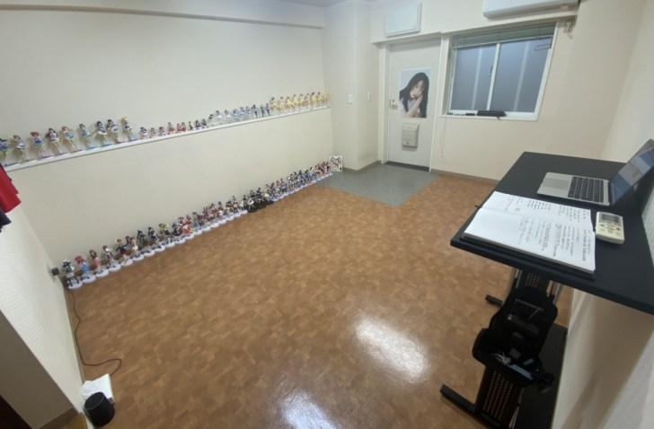 ワンルームに住む大学生ミニマリストの部屋