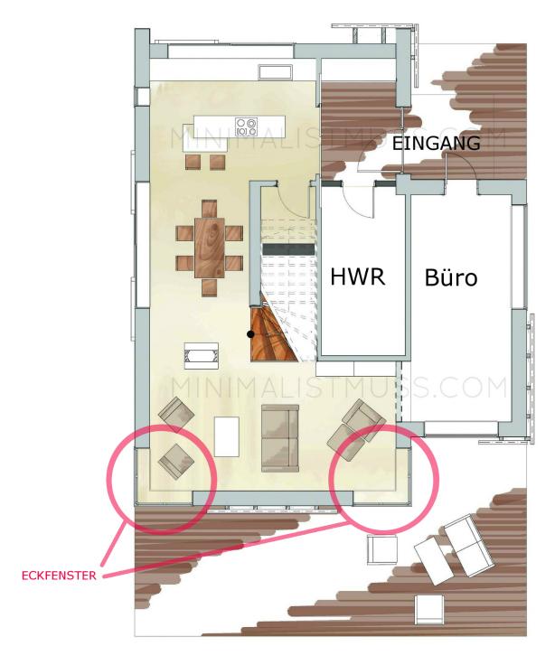 MIM Haus designed by Nic Pinguet. Einfamilienhaus, Holzbauweise, EnergiePlus Grundriss EG