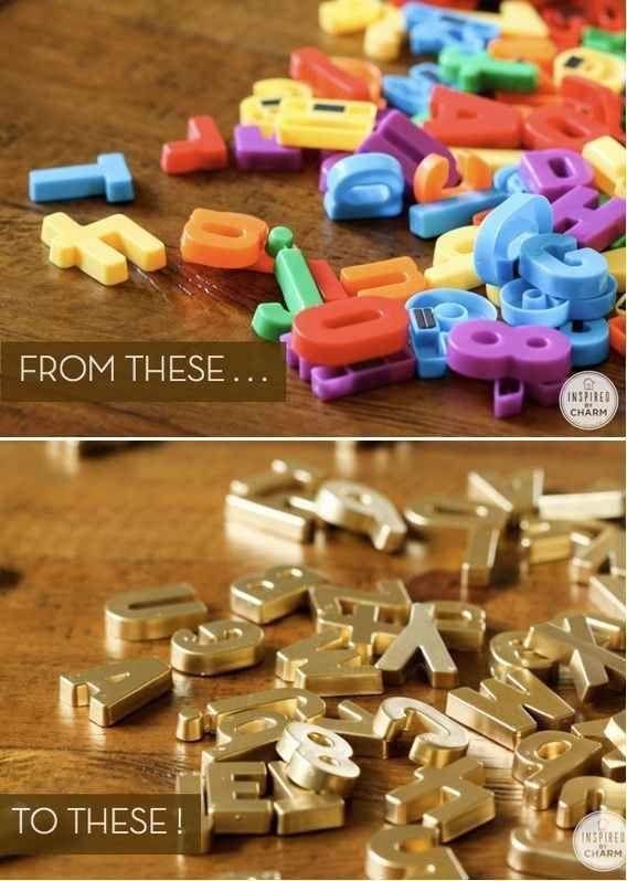DIY Geschenke können richtig DELUXE sein. Auf minimalistmuss findet ihr eine ganze Sammlung dieser einzigartigen Selbstmachgeschenke. Hier DIY GOLD MAGNETIC LETTERS