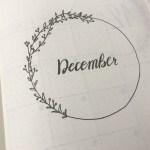 12月バレットジャーナルセットアップ