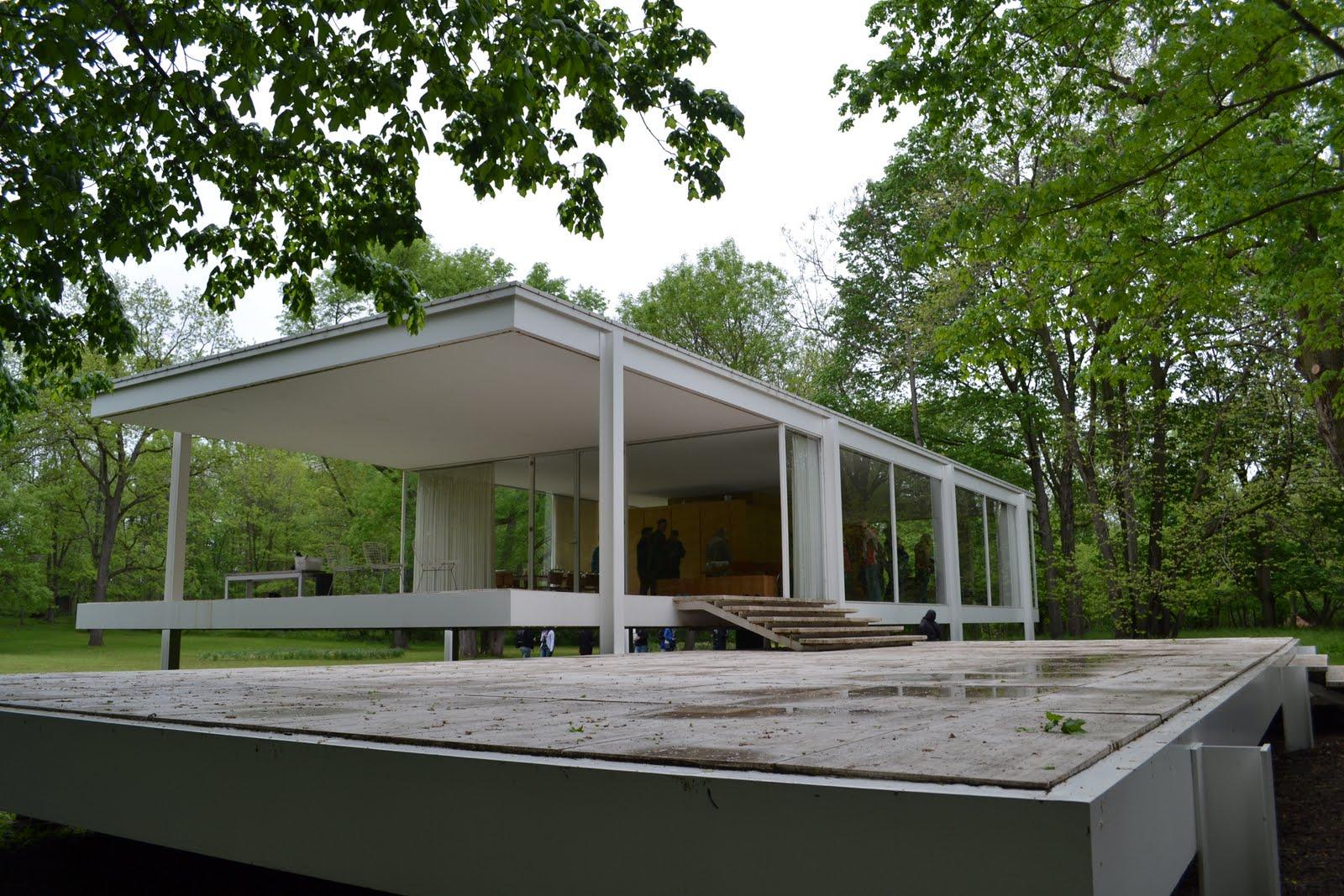 Arquitectura casa farnsworth minimalspot for Arquitectura casa