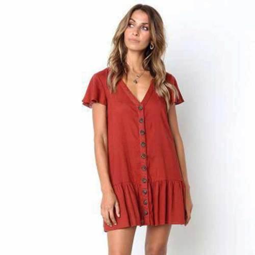 Summer V-neck Dress