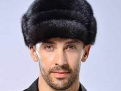 Men winter fur hat