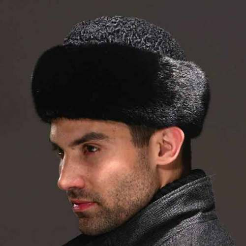 Real genuine mink with wool hat