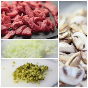 Boeuf Stroganoff Collage