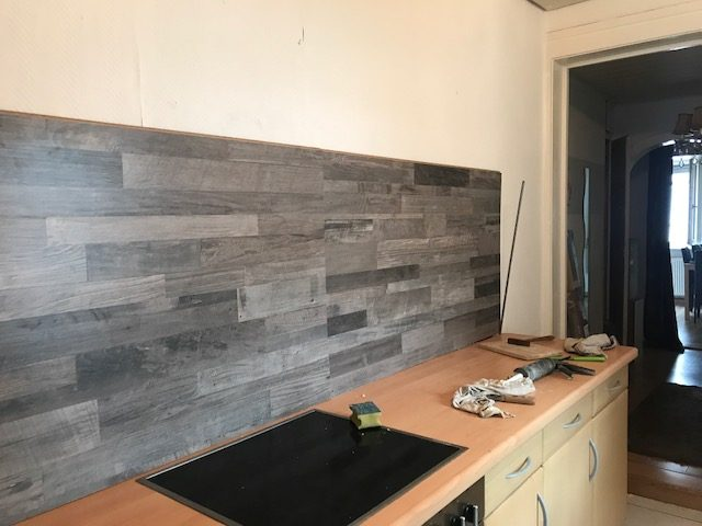 awesome laminat als küchenrückwand ideas globexusa globexusa