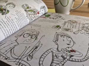 Aufgeschlagene Buchseite aus dem Buch Ducasse Nature