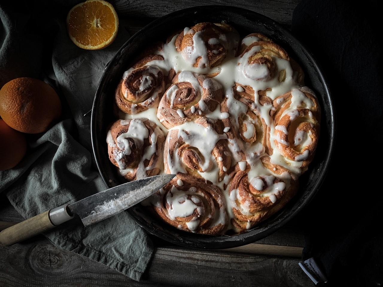 Koch mein Rezept: Orange Swirl Rolls nach Rezept von Brot und Rosen