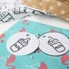 printable cadeau labels monochrome milk print