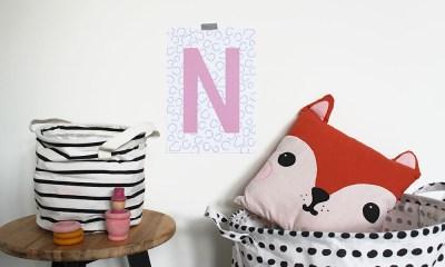 kinderkamer poster babykamer gepersonaliseerd eigen letter