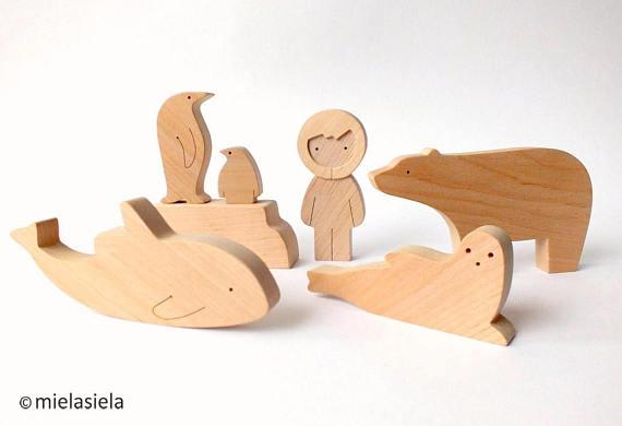 handgemaakte houten speelgoeddieren design mielasiela