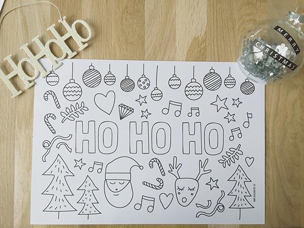 kleurplaat kerst gratis printable