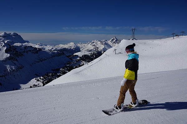 wintersport frankrijk franse alpen snowboarden