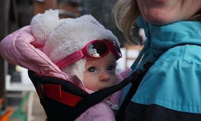 wintersport met baby reizen