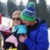 wintersport met baby