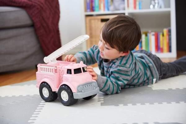 Roze Green Toys truck van gerecycled plastic