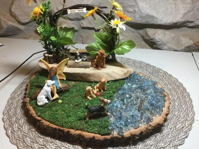 howto make a fairy garden pond