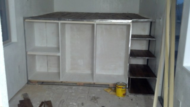 Painting out the 'closet' cabinets